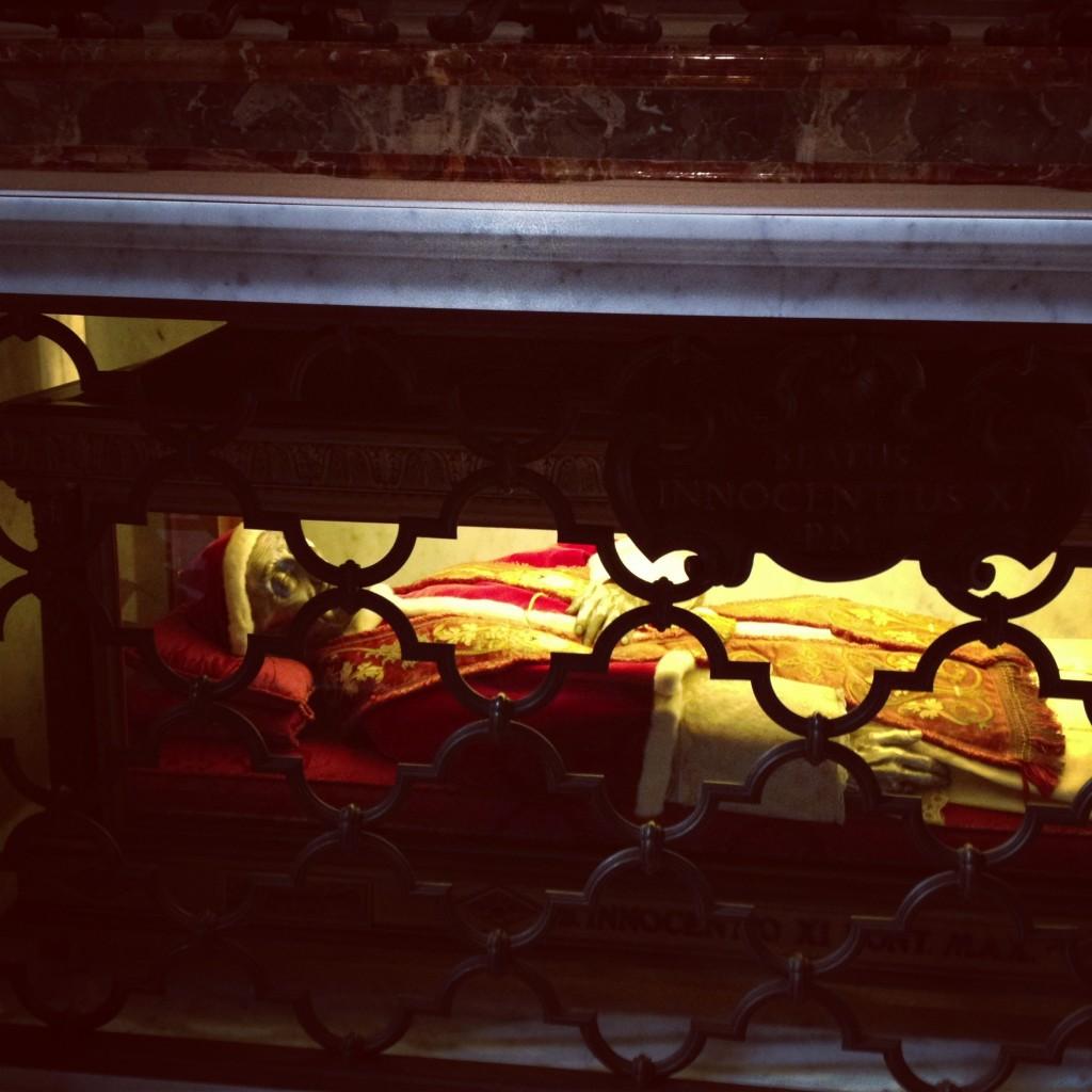 Just a mummified Pope dressed like Santa, NBD