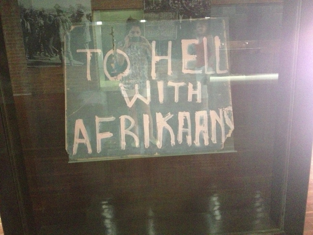 Sign from Soweto Uprising