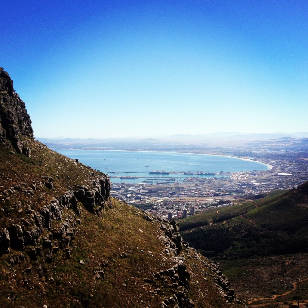 Cape Town, seen from Table Mountain
