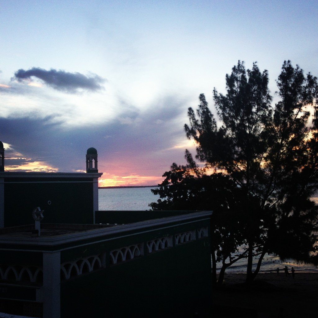 Ilha at sunset