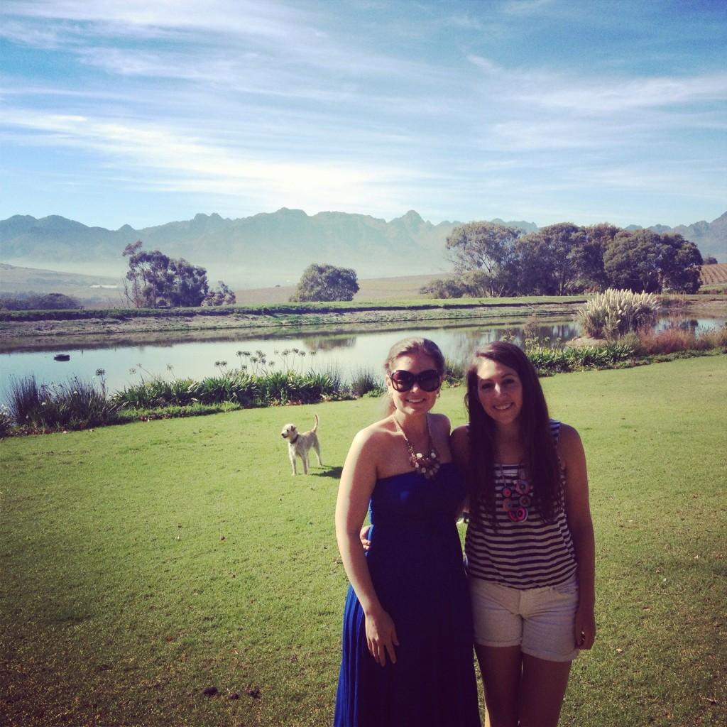 Amanda and me at Jordan Winery, Stellenbosch