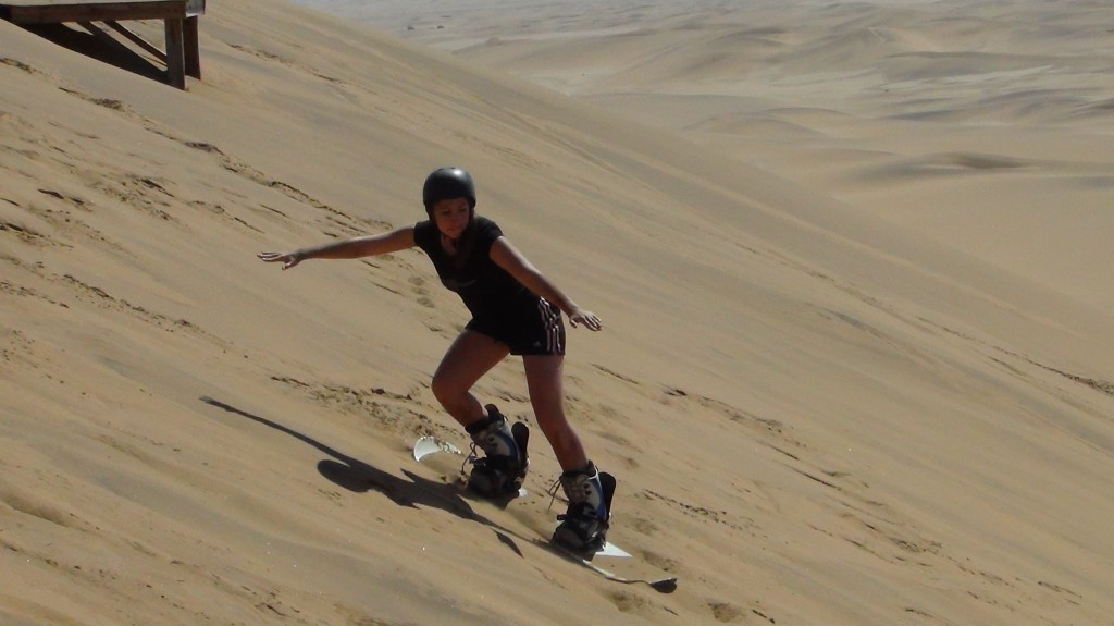 Me, sand boarding