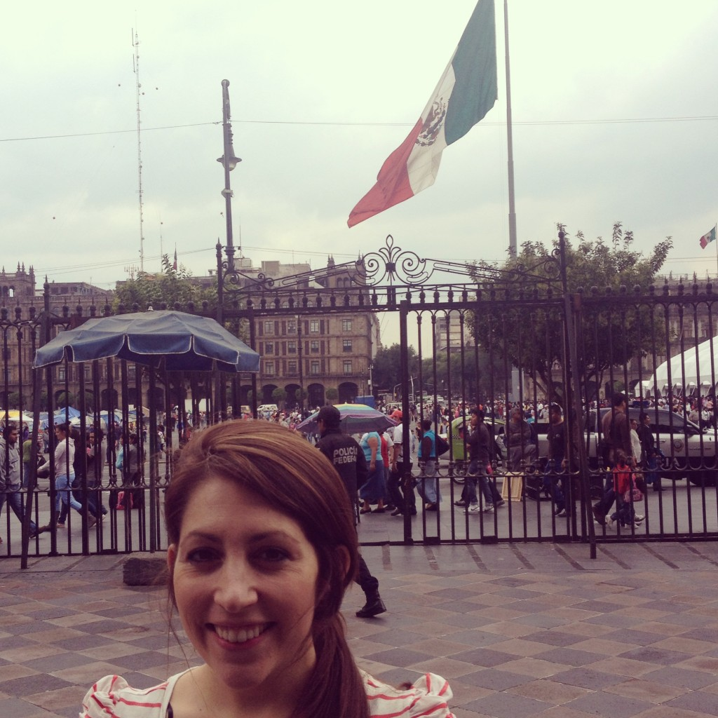 Me and a giant Mexican flag