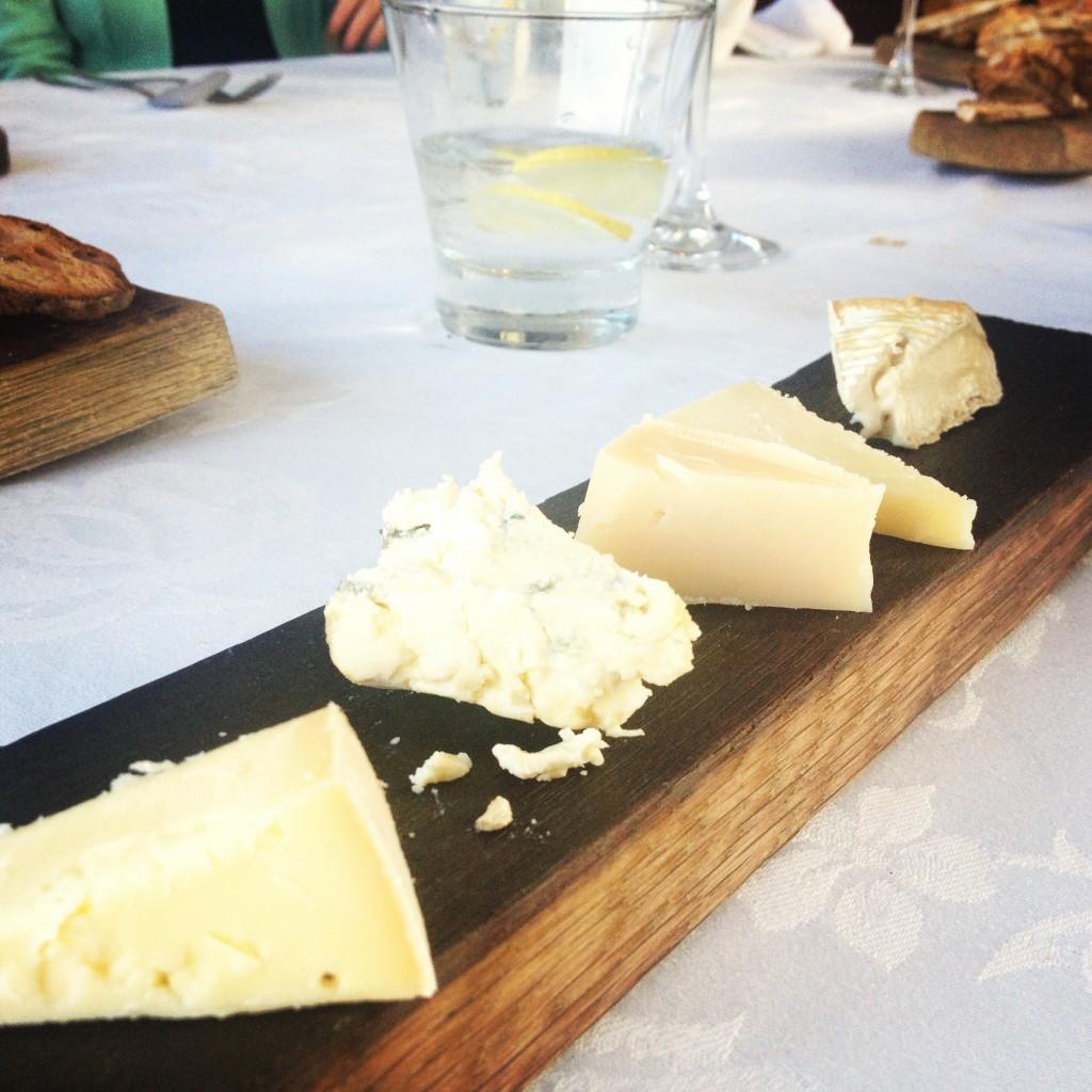 Hand-picked cheese selection at Jordan