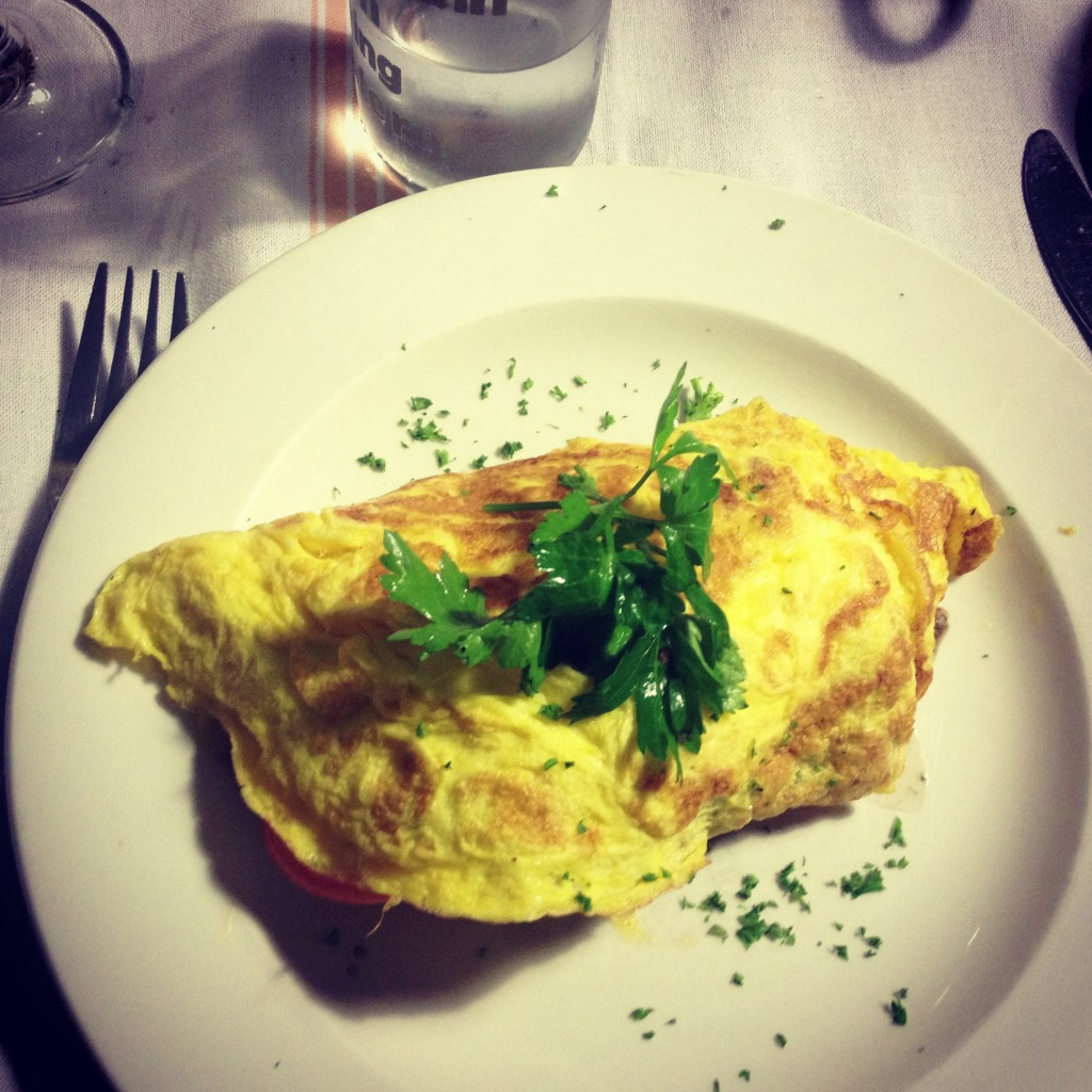 Omelette at The Gardener's Cottage, Cape Town