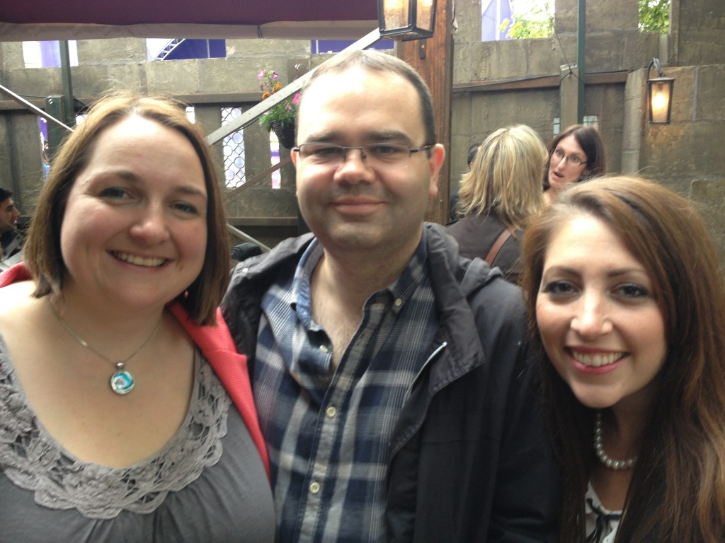 Kathryn, James, and me at the Festival