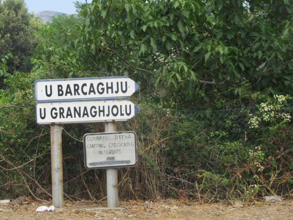 Signs in Corsu