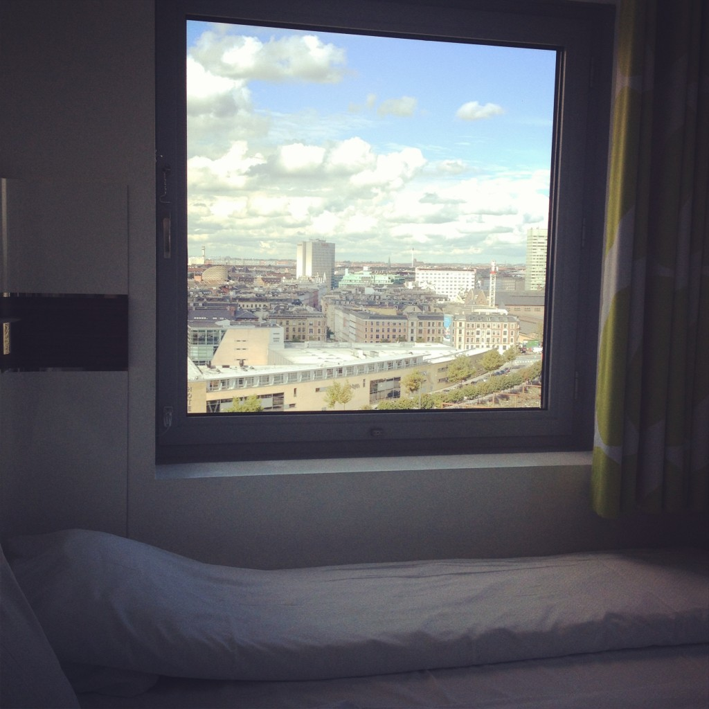 View from our room at Wake Up Copenhagen