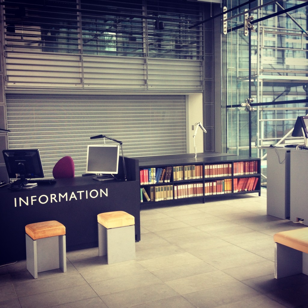 Information desk, Royal Library