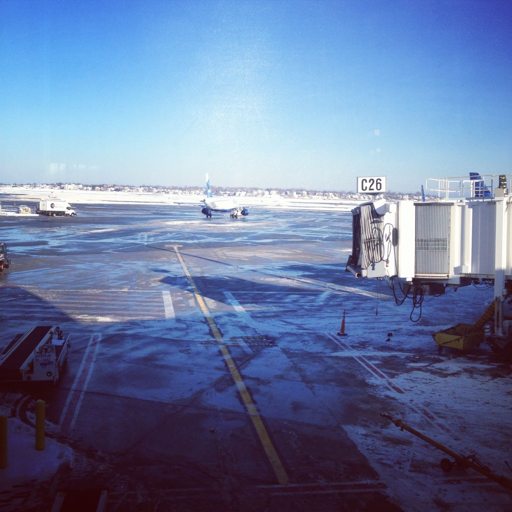 The view from the airport window, Boston