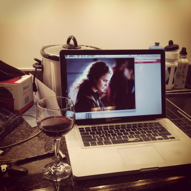 My moving process involved wine and Felicity on DVD.