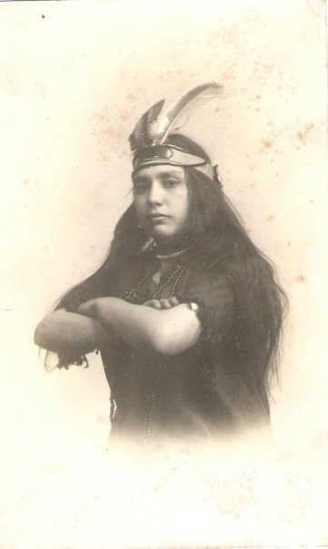 My great-aunt, Mary Rivero, 1915. This photo probably should have been my first clue that I had some Native American ancestry.