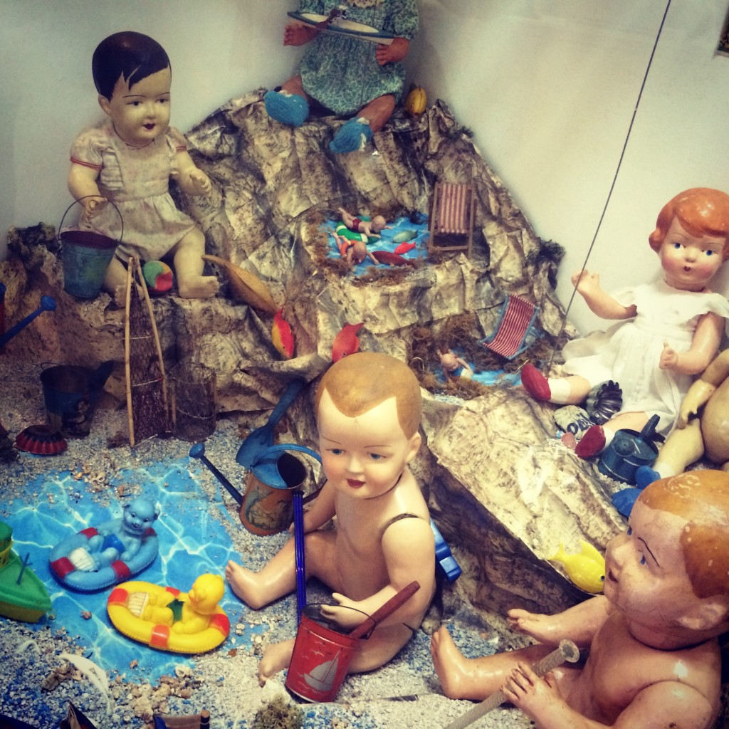 Creeptastic dolls at the Toy Museum