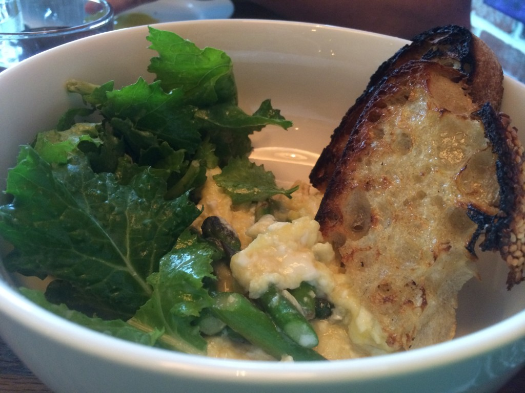 Scrambled eggs at Two Boroughs Larder
