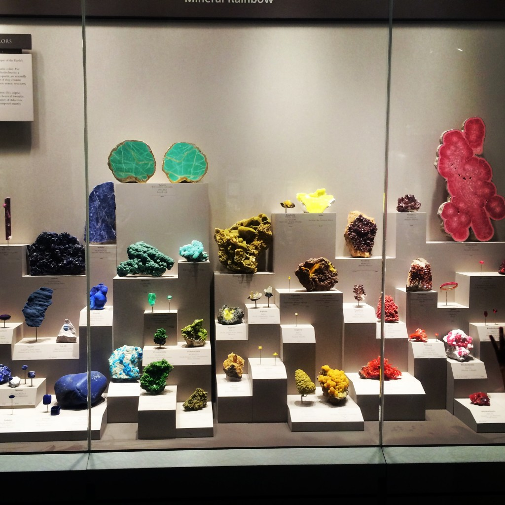 Gem display at the Natural History Museum