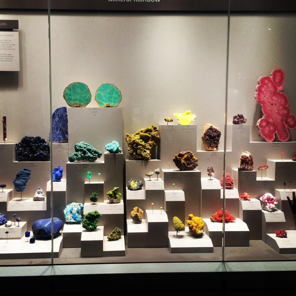 Gem display at the Natural History Museum
