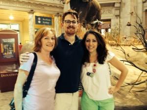 Carol, Al, and me at the Natural History Museum