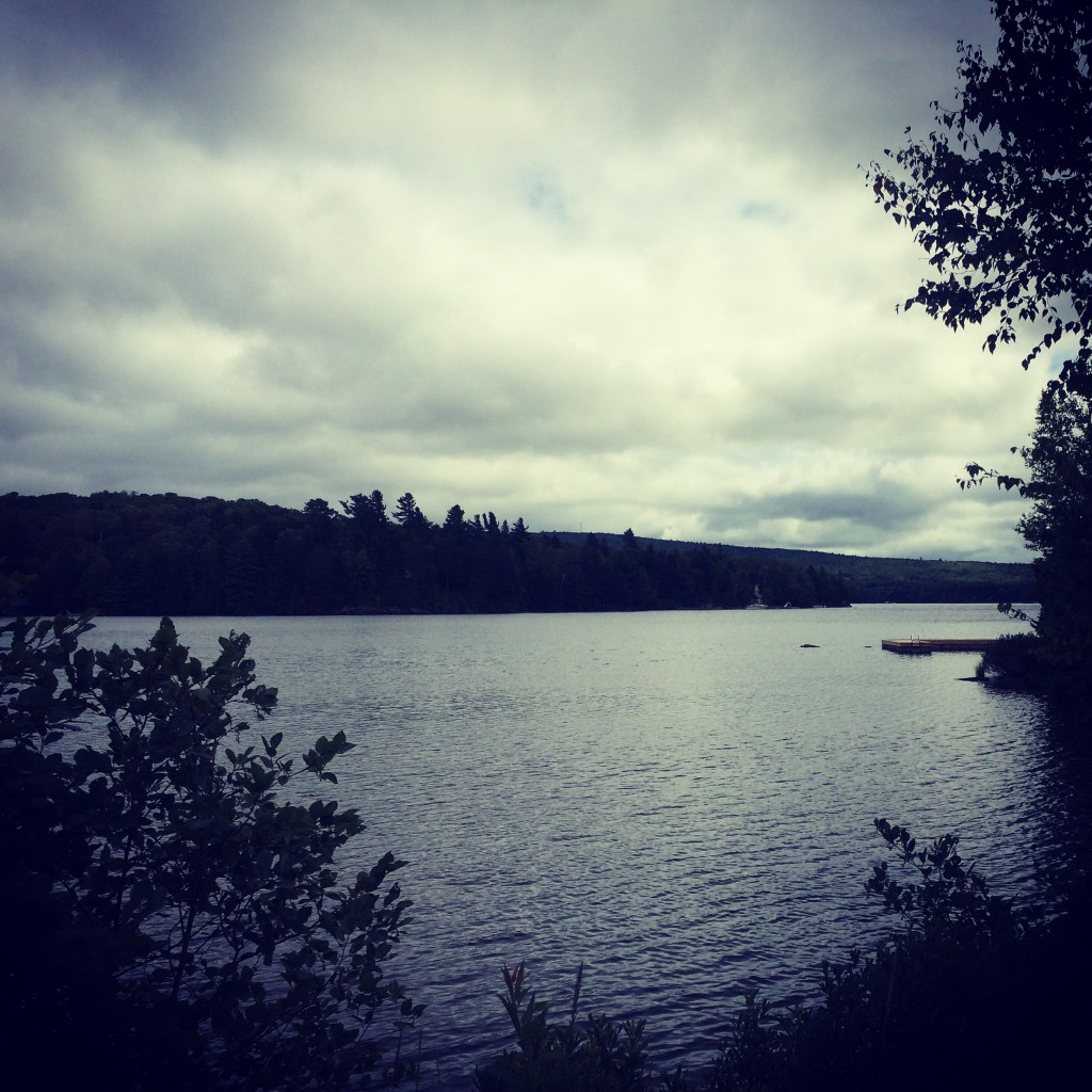 Moosehead Lake, on a cloudy day