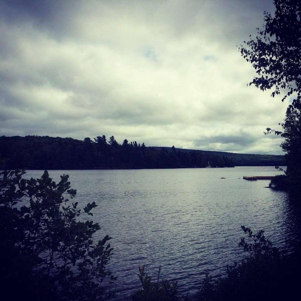 Moosehead Lake, on a cloudy day