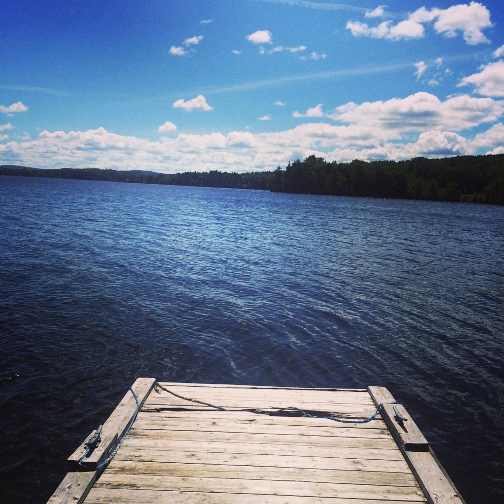 View from the dock, Moosehead Lake