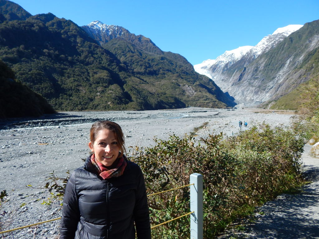 Glacier in the background