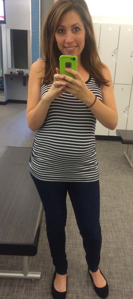 Spending my birthday in maternity jeans.