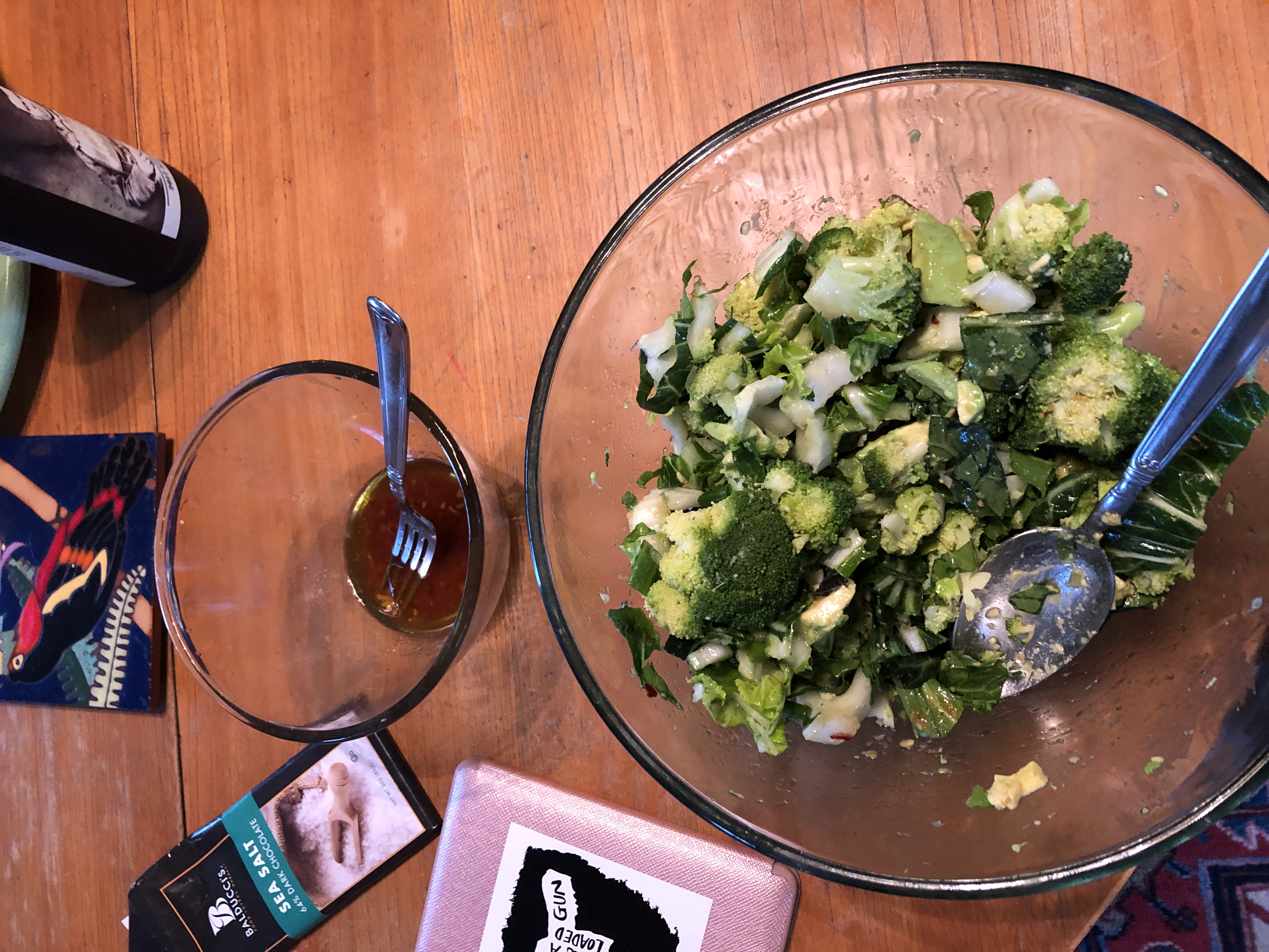 Healthy dinner and a book - an introvert's dream