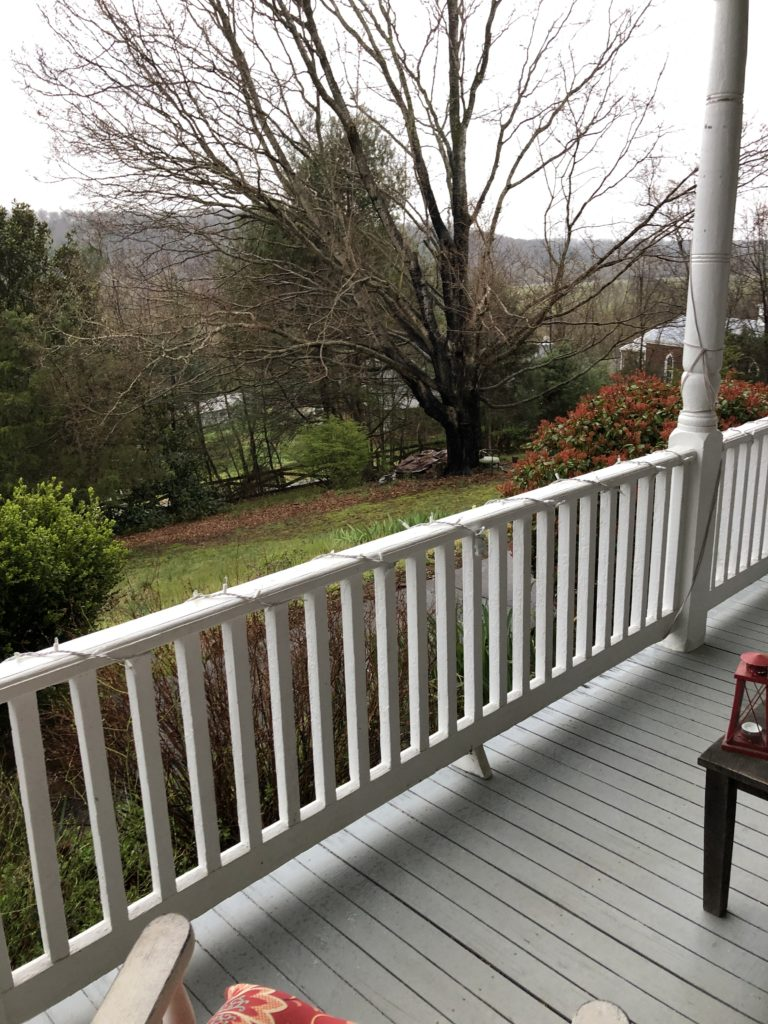View from one of the porches at Porches!